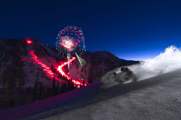 1. NYE Torchlight Pow | Skier: Willie Nelson