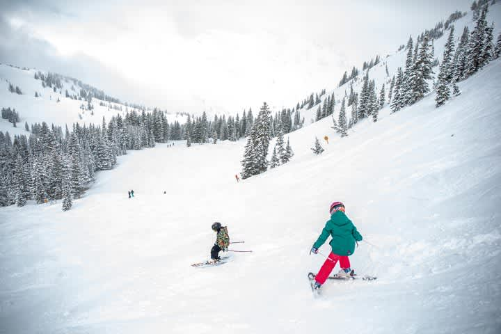 Young, Alta skiers learning how to ski on their own