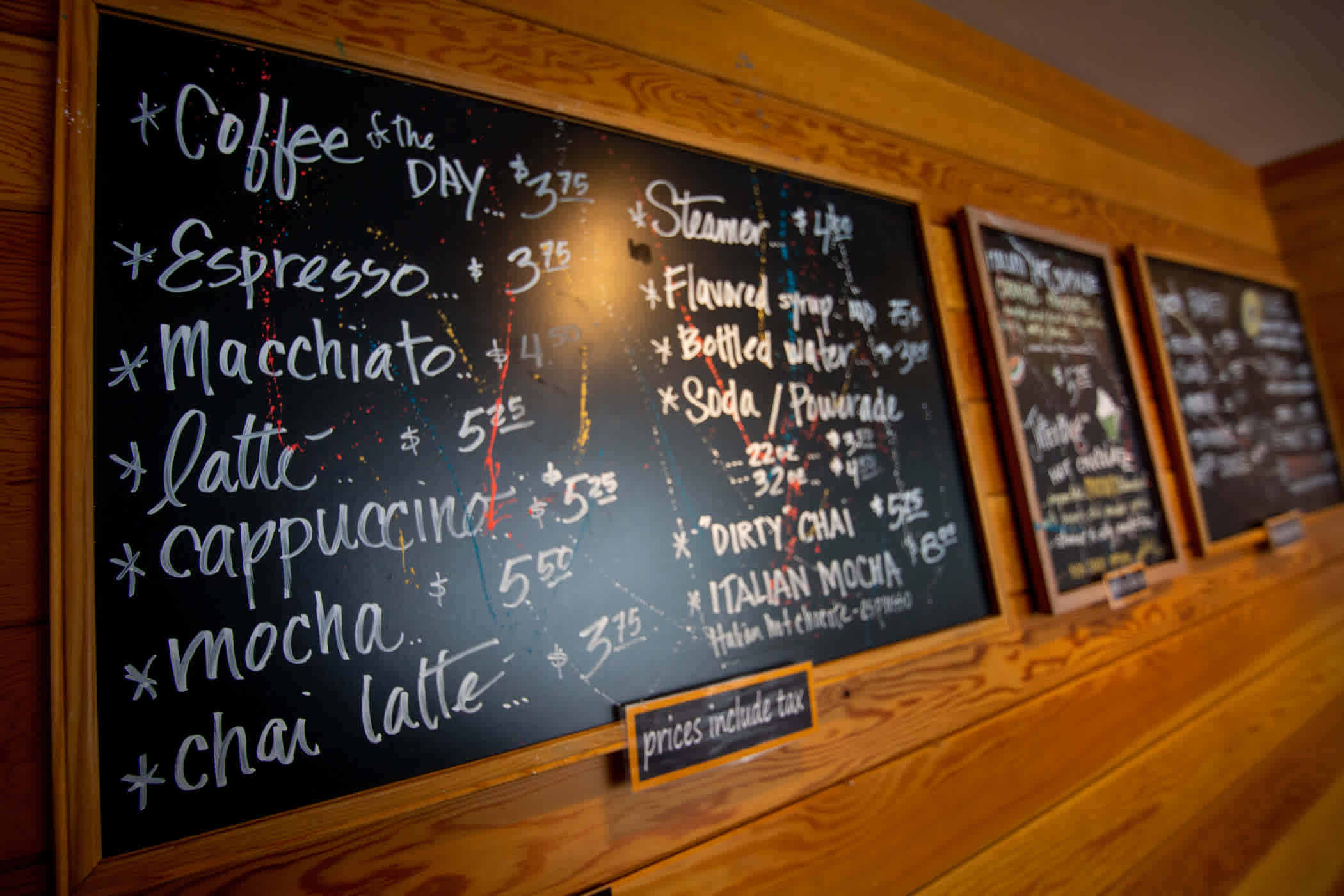 Baldy Brews menu
