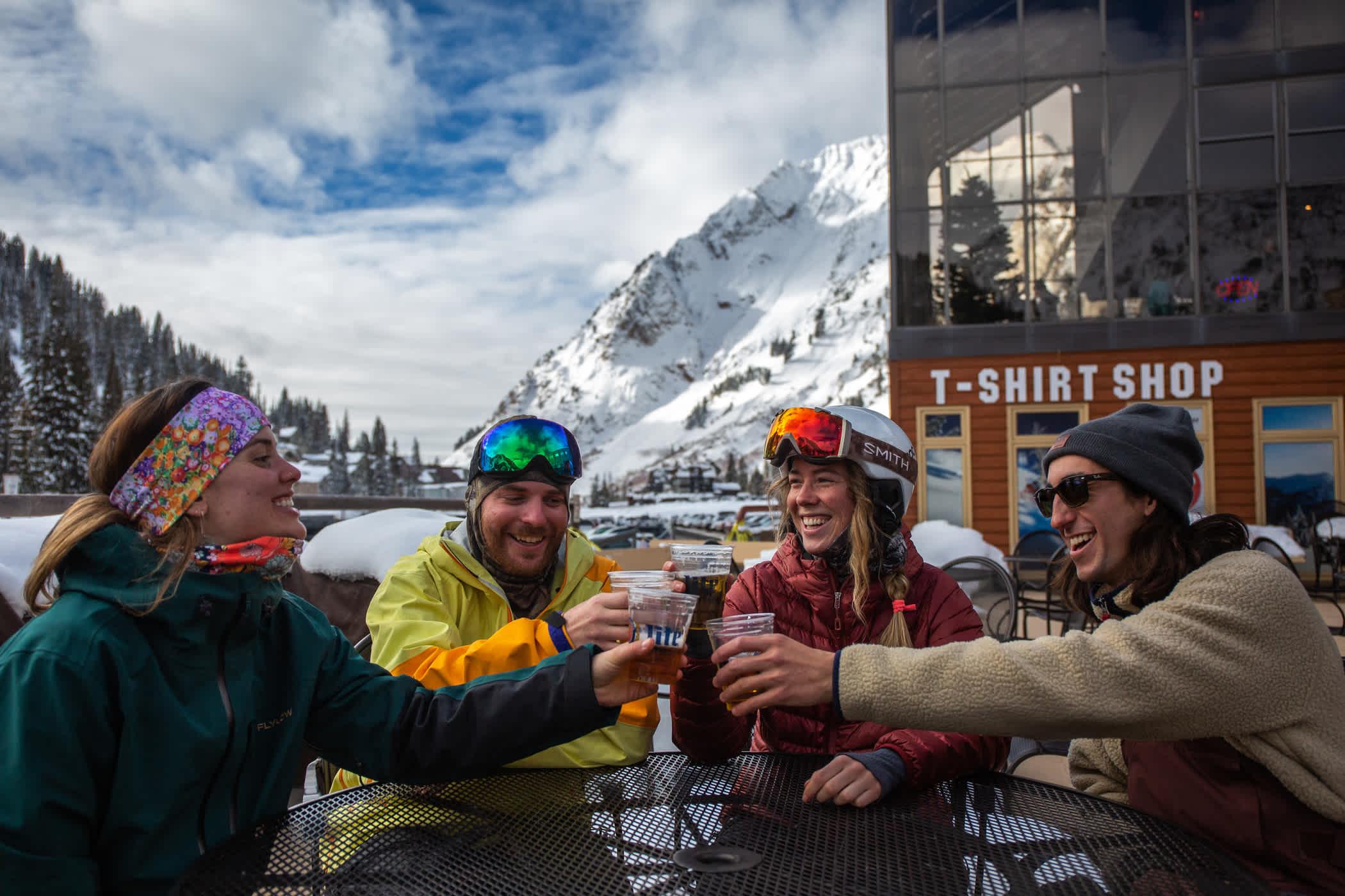 Apres-ski on the GMD patio