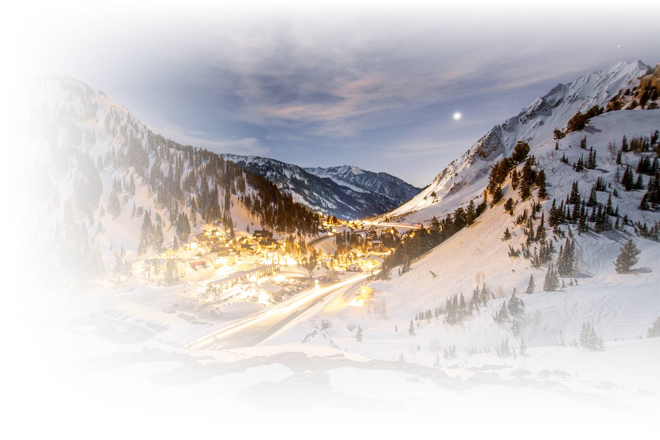 Alta Ski Area by night