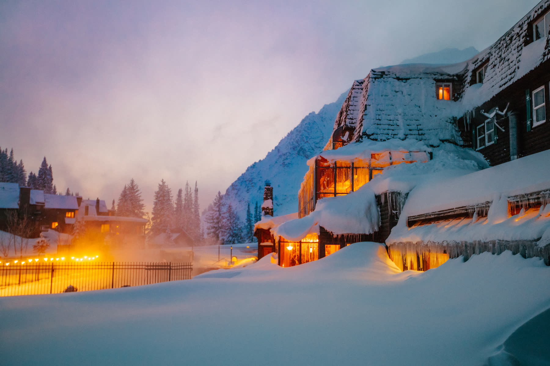The Alta Peruvian Lodge at Sunset