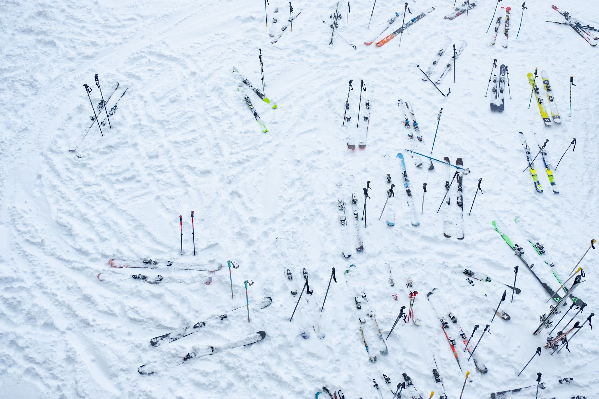 Skis on the Ground