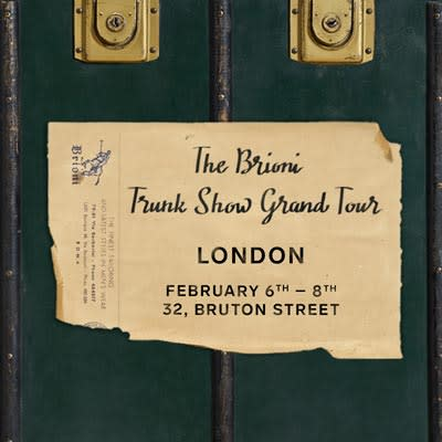 Brioni Trunk Show Grand Tour London post