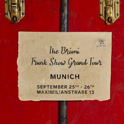 Brioni Trunk Show Grand Tour Munich post