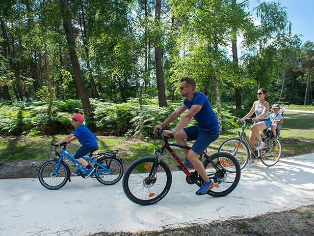 אופניים משפחתיים בסנטר פארקס