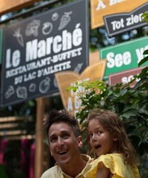 בכפרי הנופש צרפת_Le Marché du Lac d'Ailette מסעדת