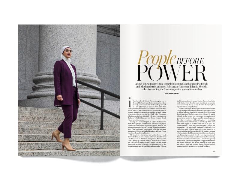 "<p><a href=""https://en.vogue.me/culture/tahanie-aboushi-manhattan-first-female-muslim-district-attorney-interview/"" target=""_blank"" rel=""noreferrer noopener nofollow"">Vogue Arabia</a>, 2021</p>\n"
