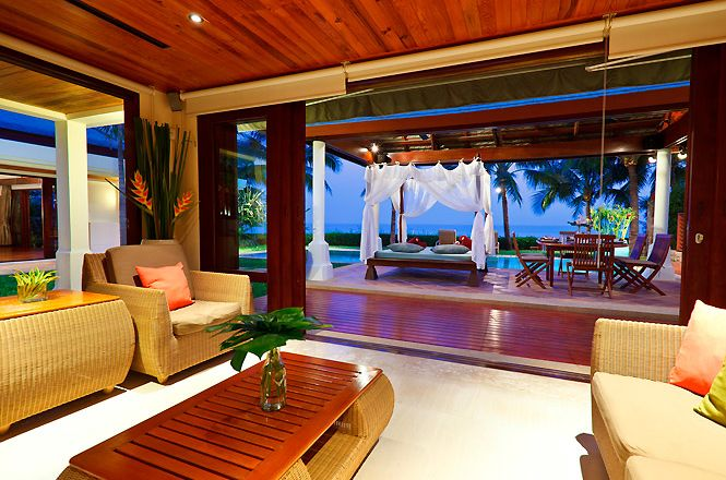 Beachfront Thai Lounge Villa