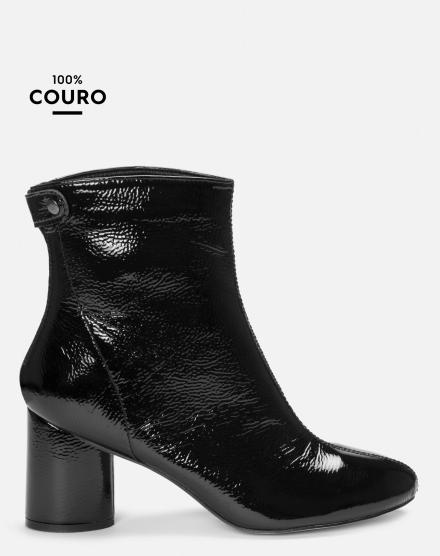 84267a7d8 BOTA COURO CANO CURTO VERNIZ