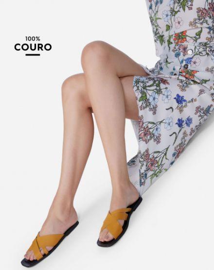 4a4cc948f Sapatos Femininos em Promoção. RASTEIRA DE COURO SQUARE
