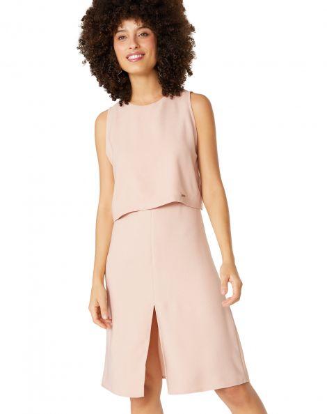 Amaro Feminino Vestido Chic Essential, Rosa