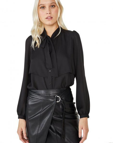 Amaro Feminino Camisa Layer Essential, Preto