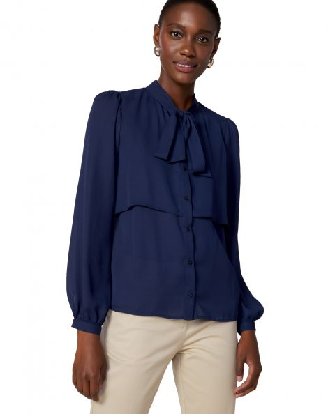 Amaro Feminino Camisa Layer Essential, Azul
