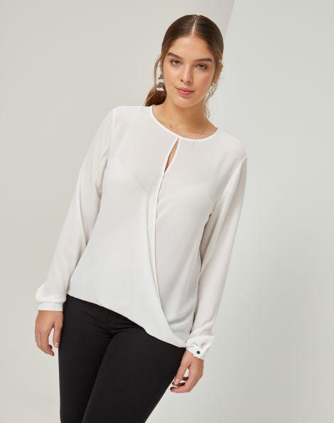 Amaro Feminino Camisa Essential Romantic, Branco