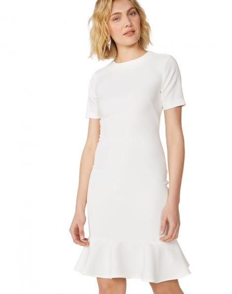 Amaro Feminino Vestido Peplum Essential, Branco