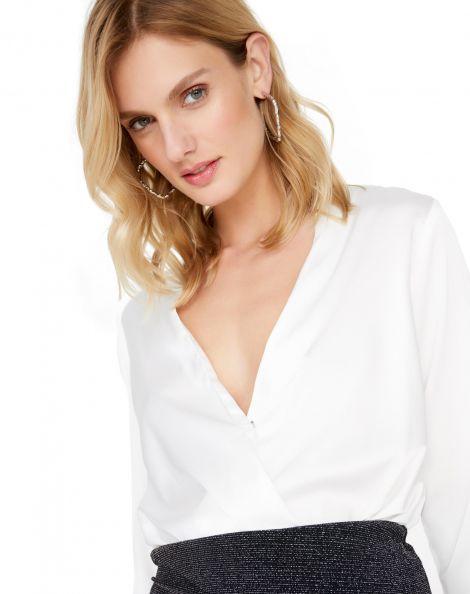 Amaro Feminino Camisa Transpasse Essential, Branco