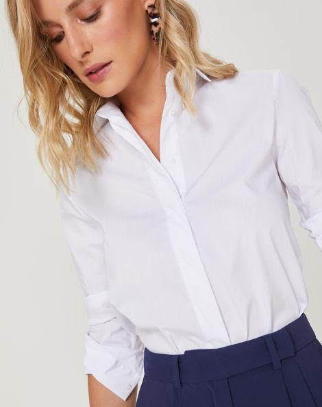 Amaro Feminino Camisa Elegance Essential, Branco