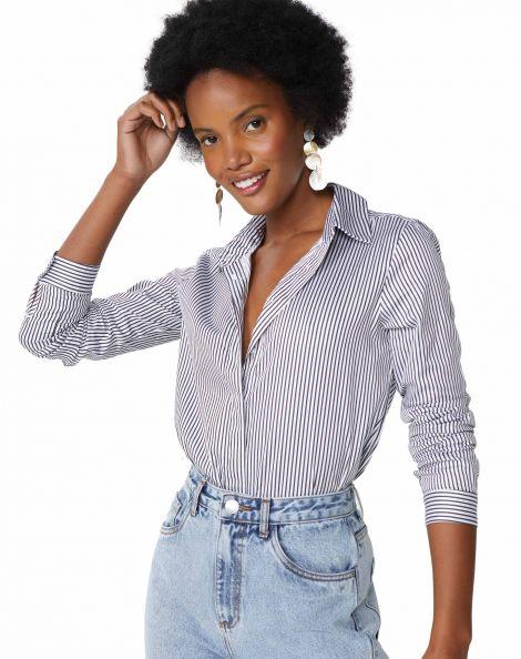 Amaro Feminino Camisa Elegance Essential, Multi