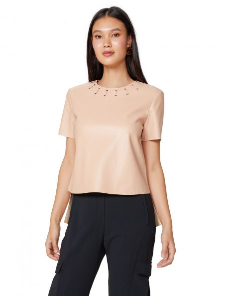Amaro Feminino T-Shirt Leather Special, Rosa