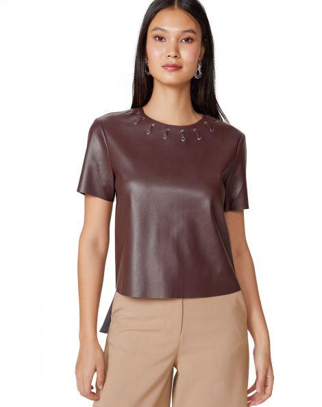 Amaro Feminino T-Shirt Leather Special, Vermelho