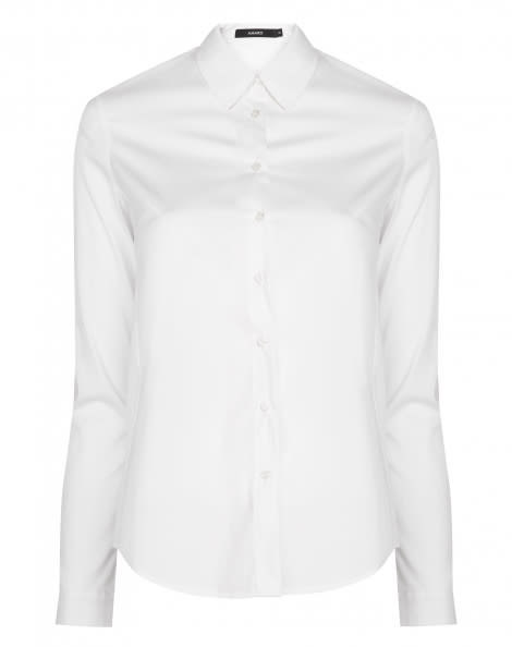 Amaro Feminino Camisa Feminina Social De Algodão, Branco