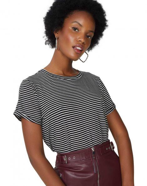 Amaro Feminino Camiseta Listrada Viscolycra, Multi
