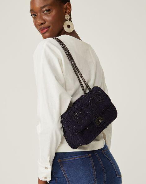 Amaro Feminino Bolsa Tweed Classic, Azul