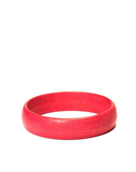 Amaro Feminino Bracelete Pedra Slim, Vermelho