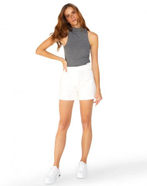 Amaro Feminino Shorts Fivela Essential, Branco