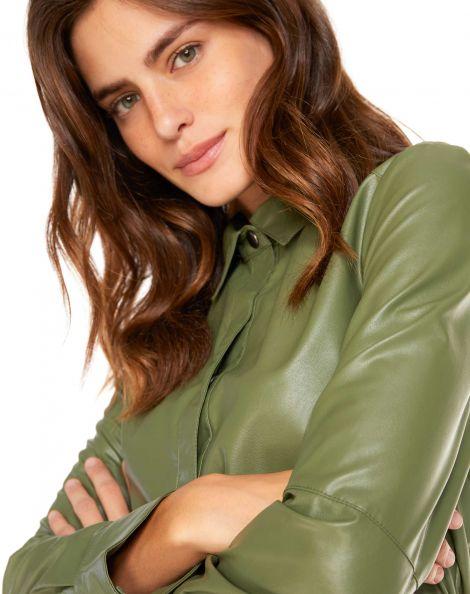 Amaro Feminino Camisa Leather, Verde