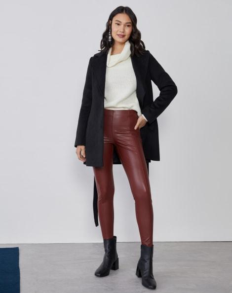 Amaro Feminino Calça Skinny Leather, Vermelho