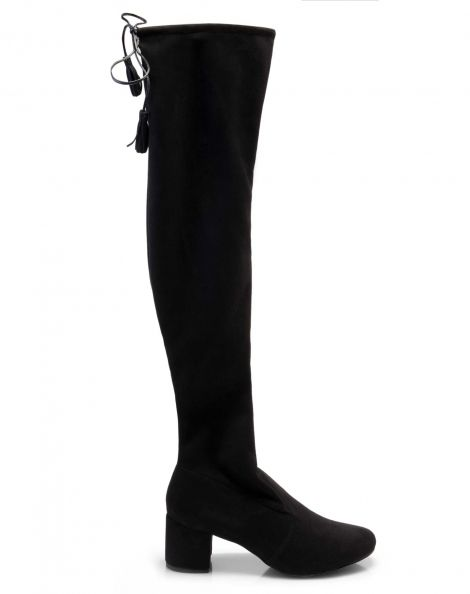 Amaro Feminino Bota Over The Knee Salto Grosso, Preto