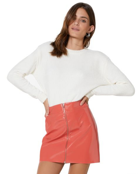 Amaro Feminino Suéter Especial Chenille, Branco