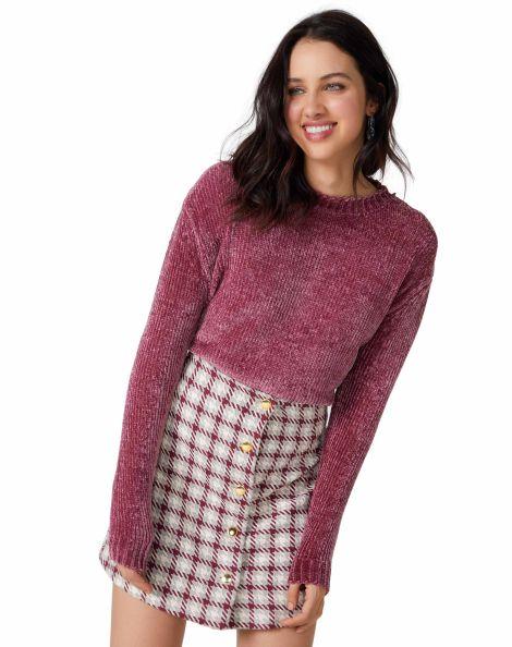 Amaro Feminino Suéter Especial Chenille, Rosa