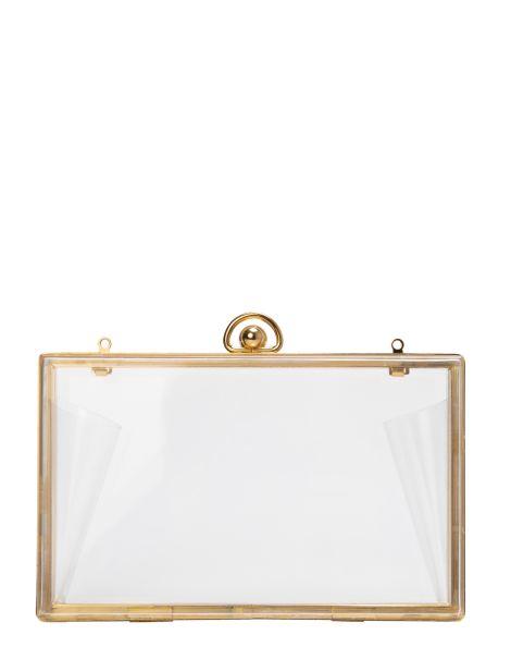 Amaro Feminino Bolsa Clutch Transparente, Branco