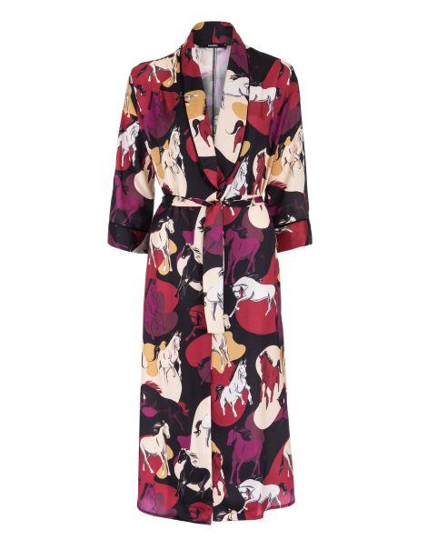 Amaro Feminino Kimono Midi Manga Ampla, Multi