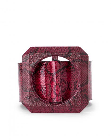 Amaro Feminino Cinto Faixa Cobra, Vermelho