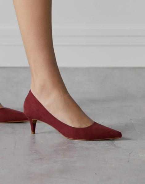 Amaro Feminino Scarpin Básico Salto Fino Baixo, Vermelho