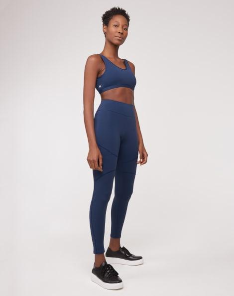 Amaro Feminino Legging Bolso Lateral, Azul