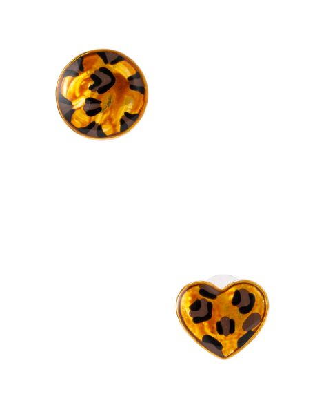 Amaro Feminino Brinco Pequeno Onça, Dourado