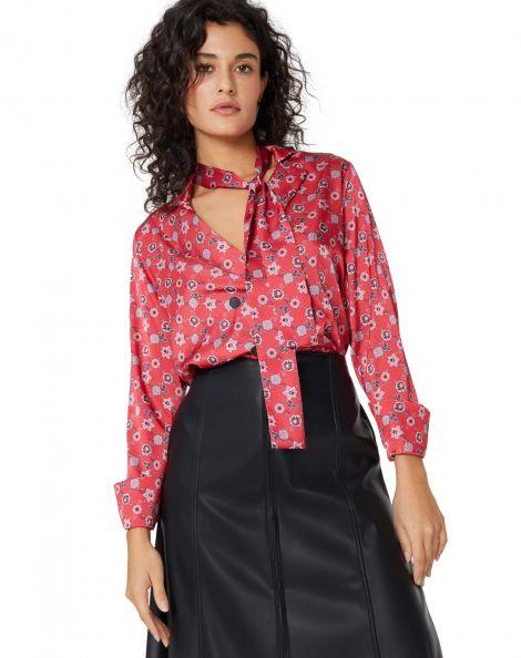 Amaro Feminino Camisa Blazer Laço, Vermelho