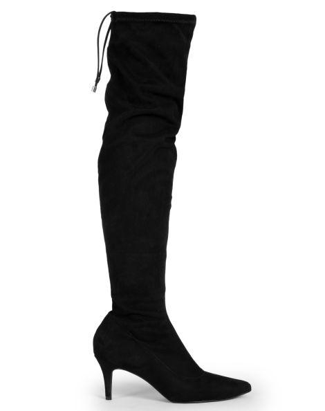 Amaro Feminino Bota Over Knee Salto Fino, Preto