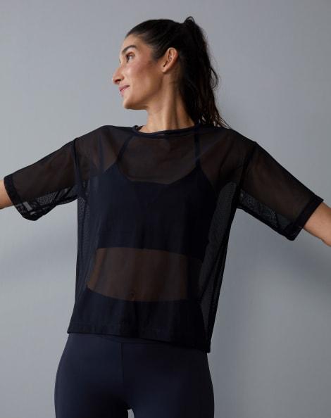 Amaro Feminino Camiseta Tule, Preto