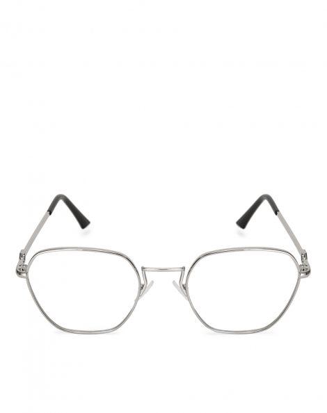 Amaro Feminino Óculos Aviador Geométrico, Branco