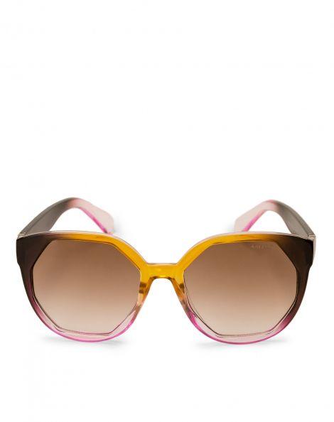 Amaro Feminino Óculos De Sol Geo Frame, Rosa