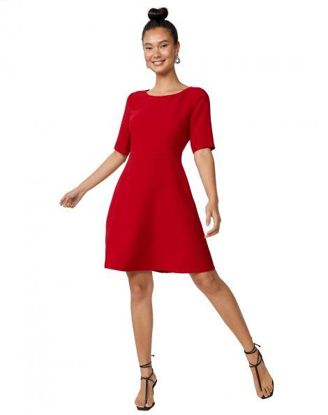 Amaro Feminino Vestido Work Clássico, Vermelho