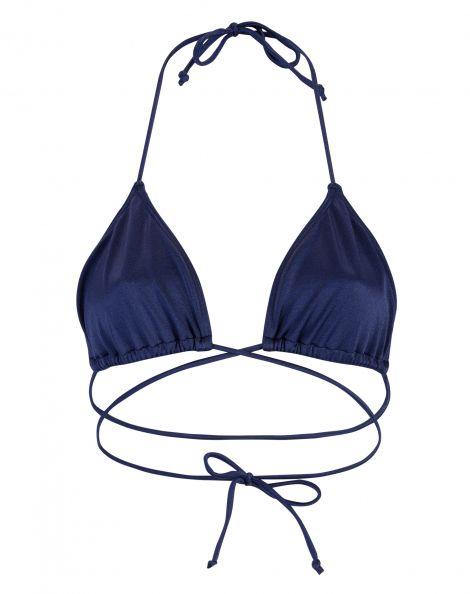Amaro Feminino Biquini Top Cortininha Tira, Azul
