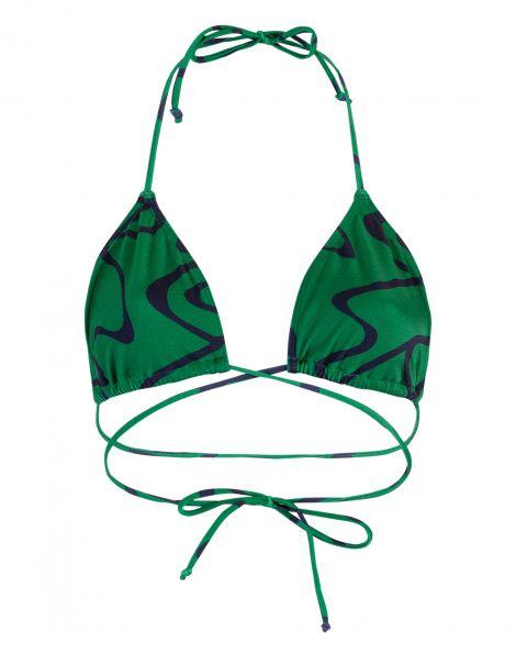 Amaro Feminino Biquini Top Cortininha Tira, Verde