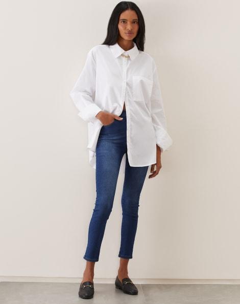 Amaro Feminino Calça Jeans Skinny Básica, Azul